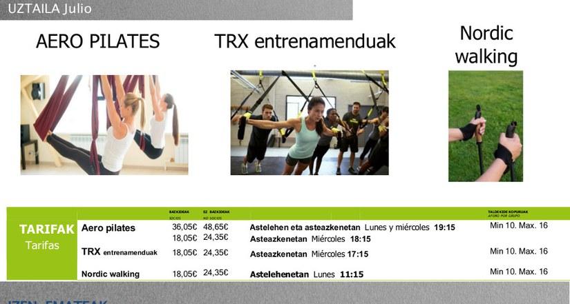 Plazo para inscribirse en las actividades Fitness en julio