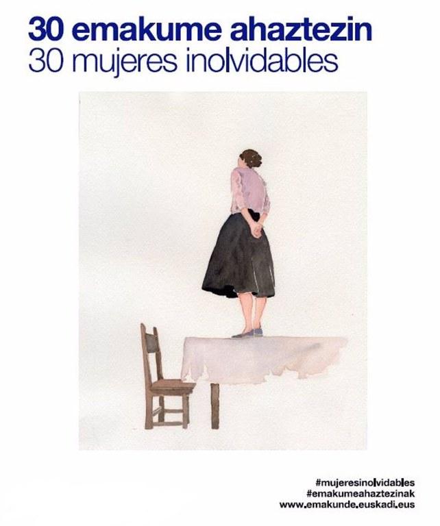 """Exposición """"30 emakume ahaztezin-30 mujeres inolvidables"""""""