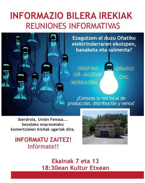 Reuniones informativas para conocer la red eléctrica local
