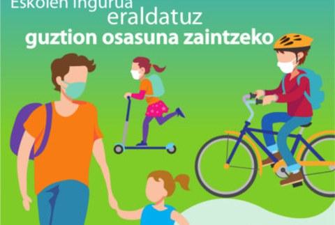 El espacio público cercano a los centros se ha adaptado para favorecer la movilidad activa y el distanciamiento físico necesario