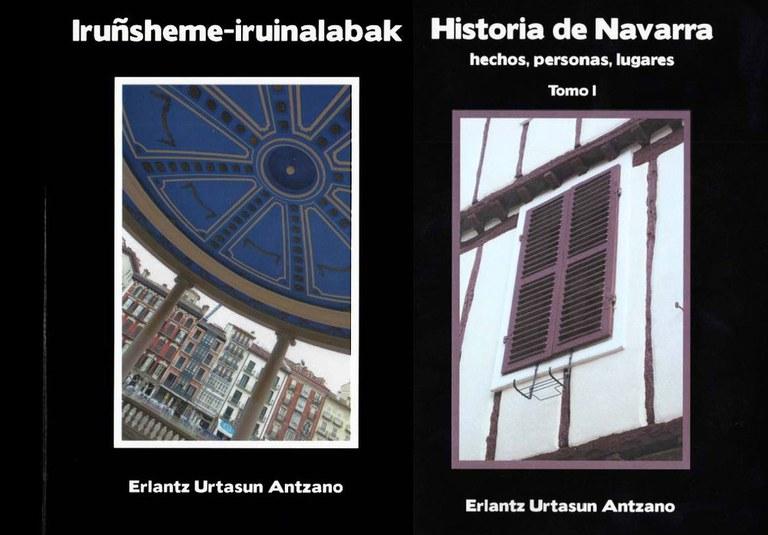 """""""Iruñsheme-iruinalabak"""" eta """"Historia de Navarra. Hechos, personas, lugares"""" liburuen aurkezpena"""