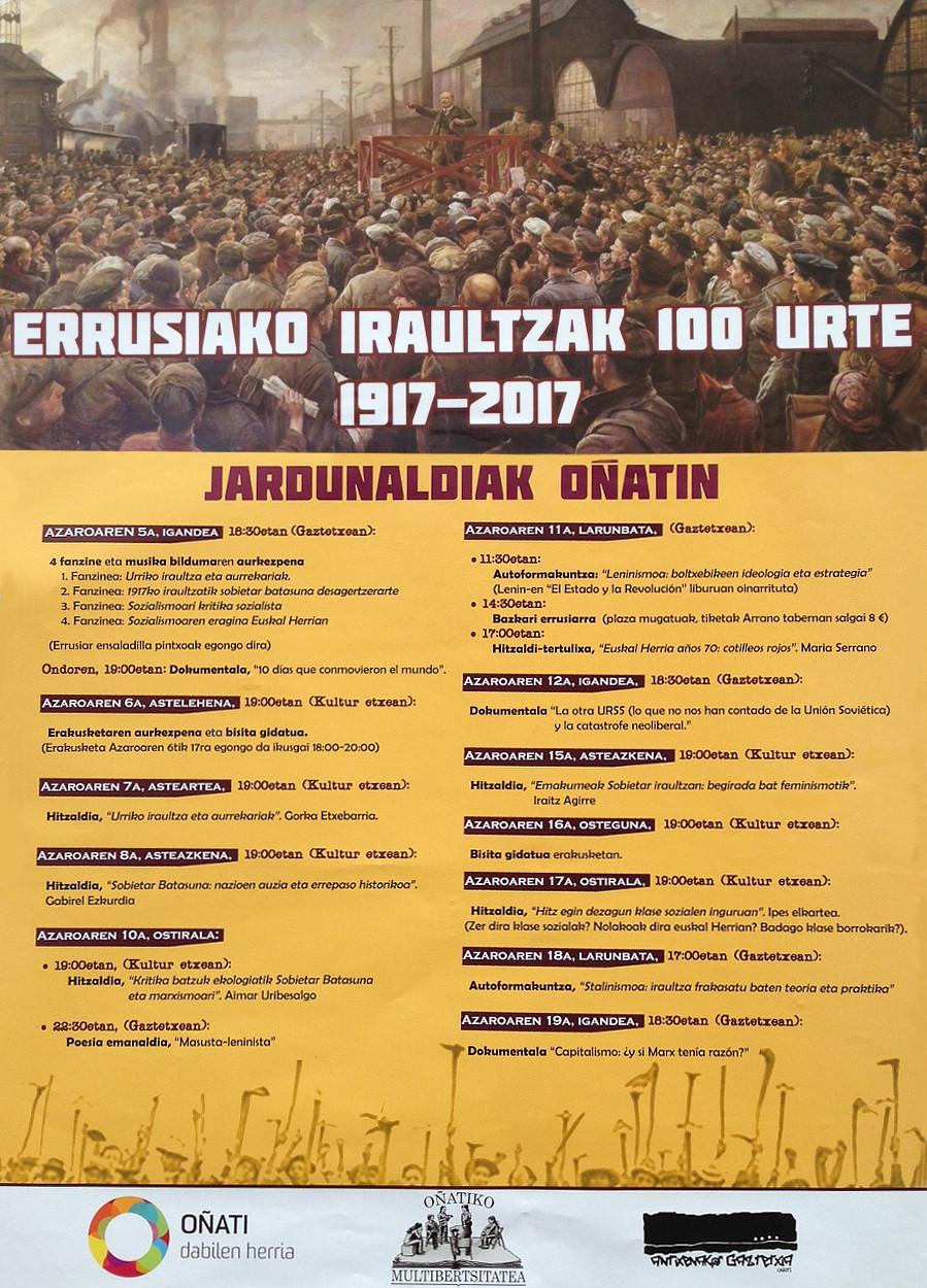 Errusiako iraultzak 100 urte Oñati-kartela3.jpg