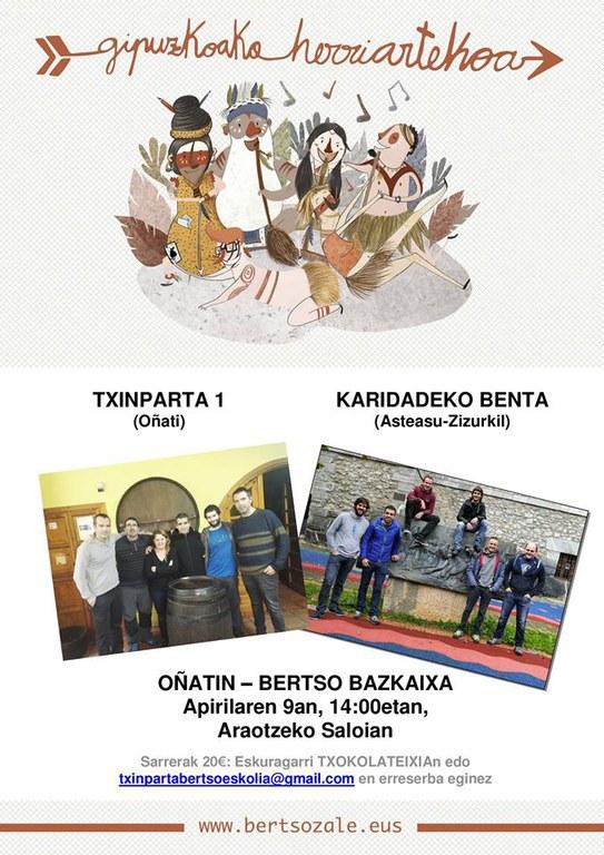 Bertso bazkaria: Txinparta 1 Vs Karidadeko Benta