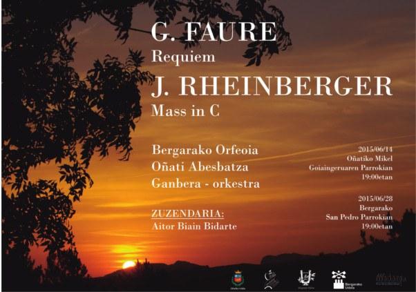 G.Faure eta J. Rheinberger-en kontzertua