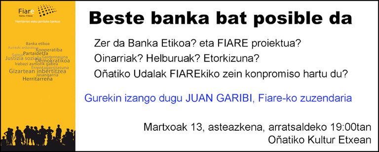 """Hitzaldia: """"Beste banka bat posible da"""""""