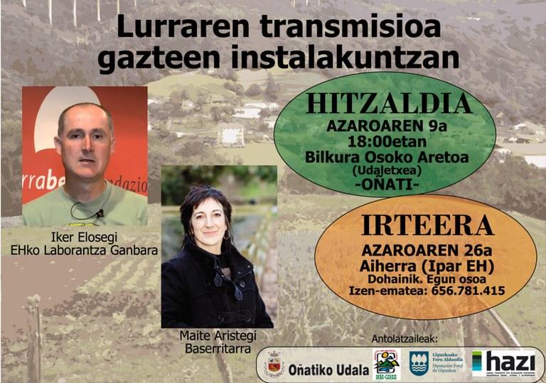 """""""Lurraren transmisioa gazteen instalakuntzan"""""""