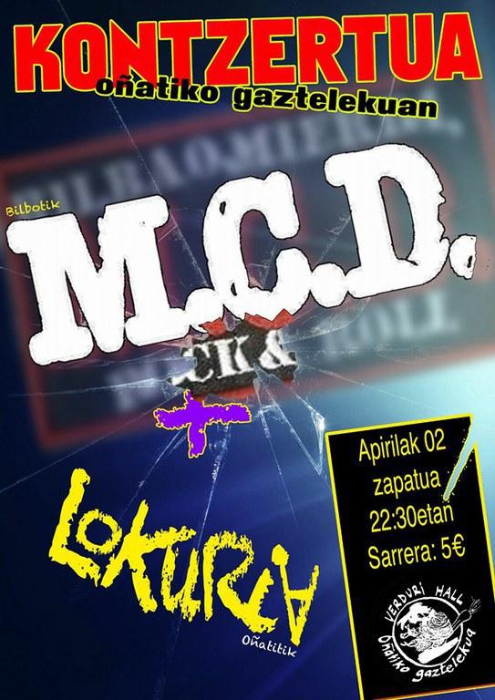 MCD eta Lokuria zuzenean
