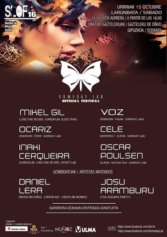 Musika elektronikoa, SLOF 16 jaia (Someday Lab Official Festival)