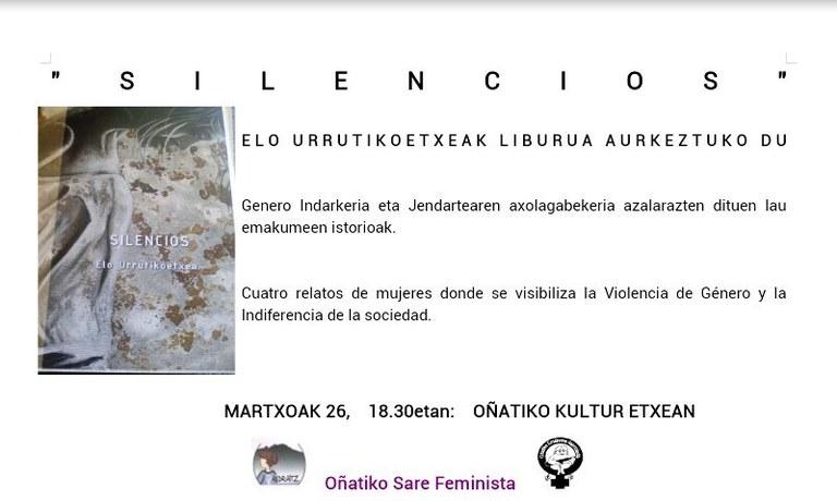 """""""Silencios"""" liburua"""