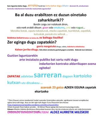 Zapata-gorriak - zapata bilketa
